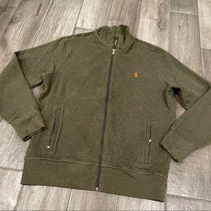 Polo Ralph Lauren Zip Up Forest Green Sweatshirt